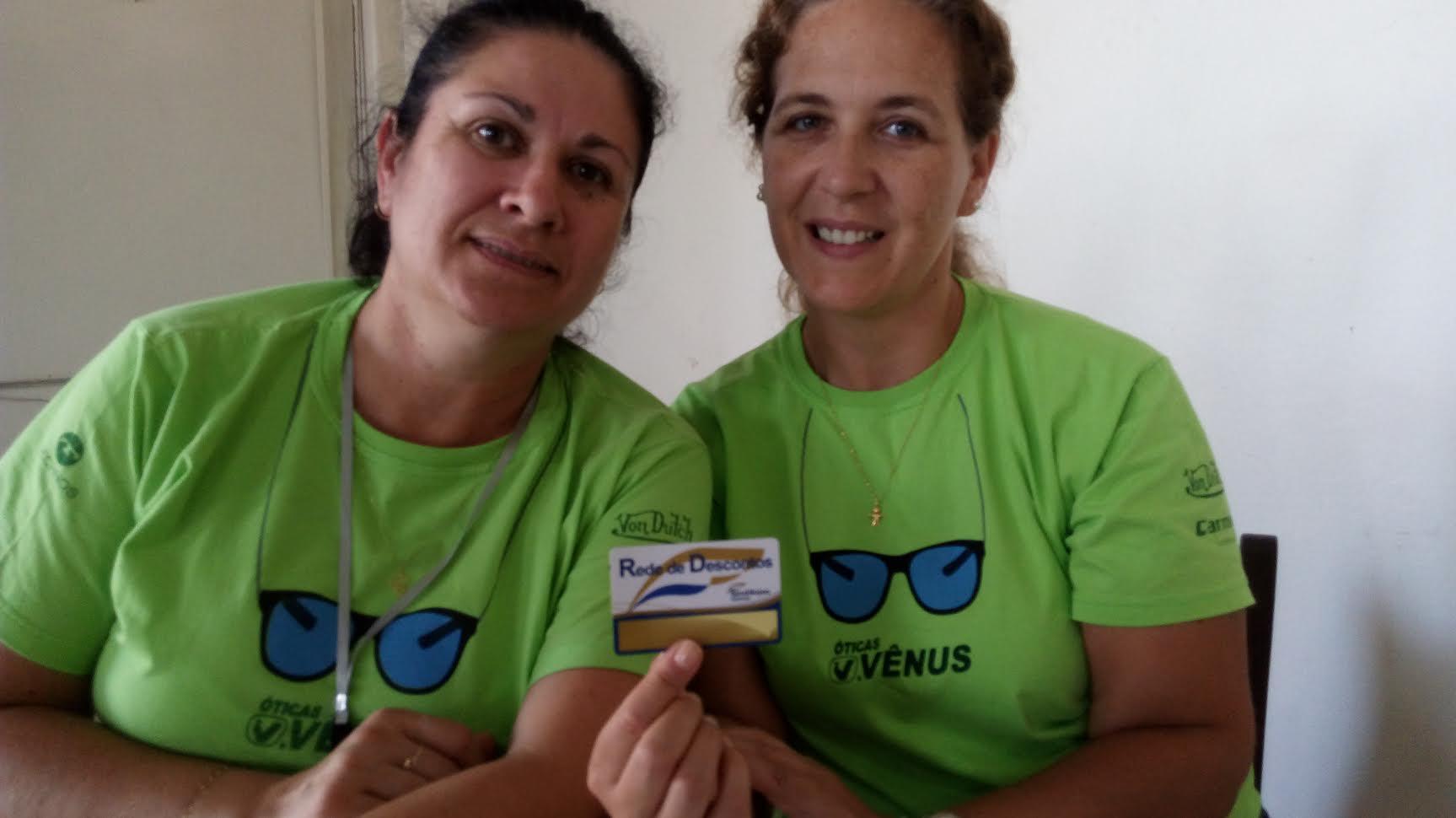A Otica Vênus também está na Rede de Descontos e realizou inúmeros testes de visao gratuitamente durante evento