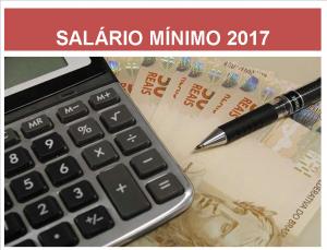 Novo salário minimo 2017