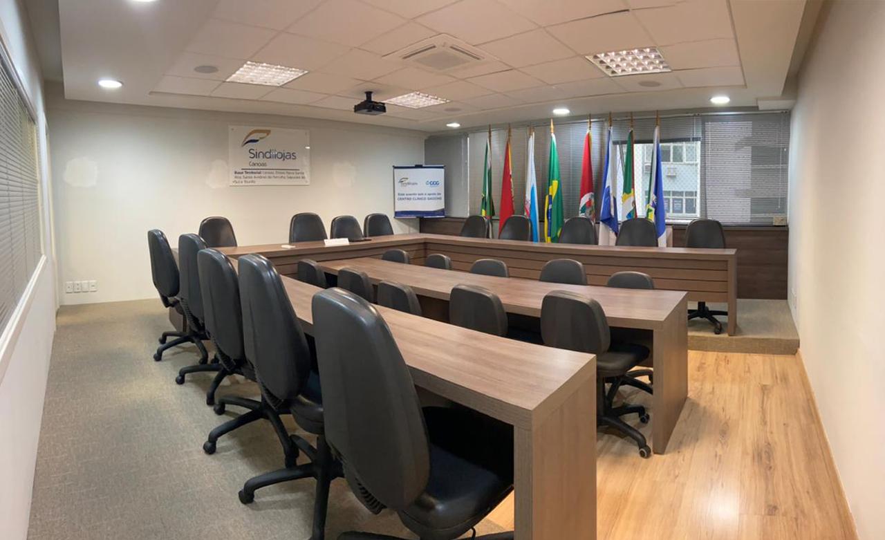 Locação de sala para reunião no Sindilojas Canoas.